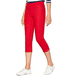 Maine New England - Red regular fit cropped jeggings