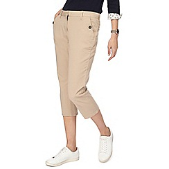 Maine New England - Beige cropped trousers