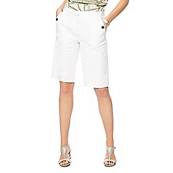 Maine New England - White stretch shorts