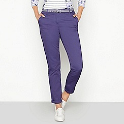 Maine New England - Purple chevron belt chino trousers