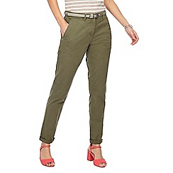 Maine New England - Khaki belted chinos