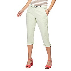 Maine New England - Pale green cropped chinos