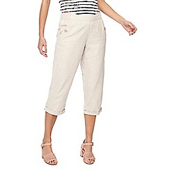 Maine New England - Natural linen blend cropped trousers