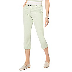 Maine New England - Light green cropped trousers