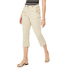 Maine New England - Natural cropped trousers