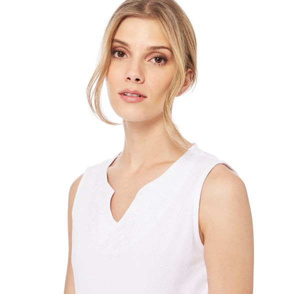 New embroidered neck Maine notch White England top yoke Sdfq6w