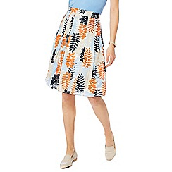 Maine New England - Orange leaf print skirt