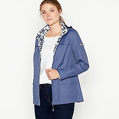 Maine New England - Purple showerproof mac coat
