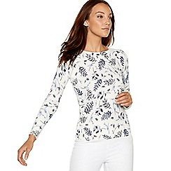 Maine New England - Ivory lavender print jumper