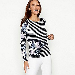 Maine New England - Navy stripe print jumper
