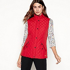 Maine New England - Dark red quilted gilet