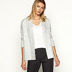 Maine New England - Grey longline knitted cardigan