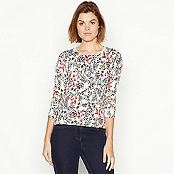 Maine New England - Multicoloured floral print soft touch jumper