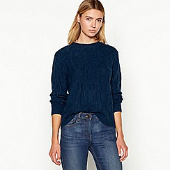 Maine New England - Dark turquoise cable knit jumper