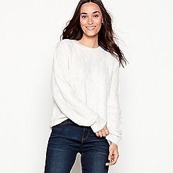 Maine New England - Cream cable knit jumper