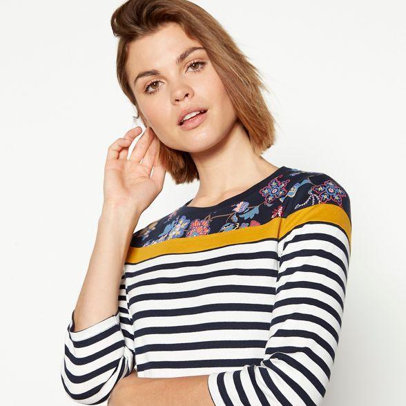 top jersey stripe New print and supersoft floral Multicoloured Maine England gPBRz