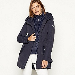 Maine New England - Navy padded waterproof hooded coat