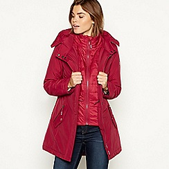Maine New England - Bright pink padded waterproof hooded coat
