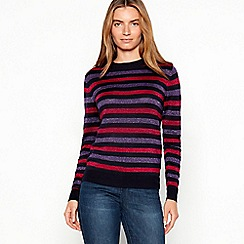 Maine New England - Plum metallic stripe jumper