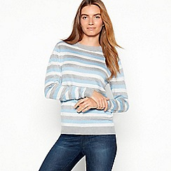 Maine New England - Ivory metallic stripe jumper