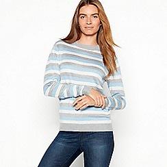 Maine New England - Ivory metallic stripe jumper