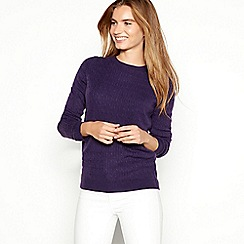 Maine New England - Plum cable knit 'Ultrasoft' jumper
