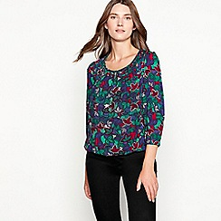 1502ae72bd1286 Maine New England - Navy floral print bubble hem top