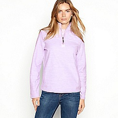 Maine New England - Lilac quilted yoke half zip fleece