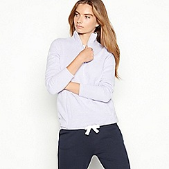 Maine New England - Lilac half zip knitted fleece top