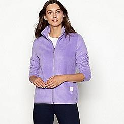 Maine New England - Light purple zip through funnel neck fleece jacket