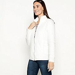 Maine New England - Ivory polar fleece jacket