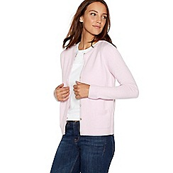 Maine New England - Light pink crew neck cardigan