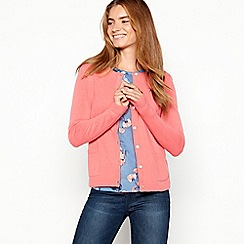Maine New England - Dark peach crew neck cardigan