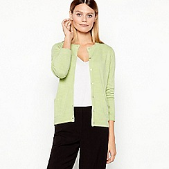 Maine New England - Lime Ultra Soft Crew Neck Cardigan