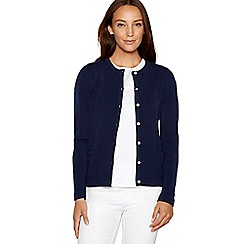 Maine New England - Navy crew neck cardigan