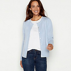 Maine New England - Light blue crew neck cardigan