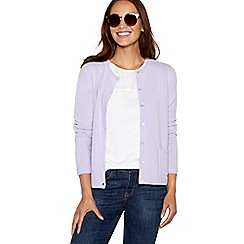 Maine New England - Lilac crew neck cardigan