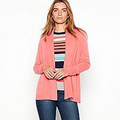 Maine New England - Dark peach shawl neck longline cardigan