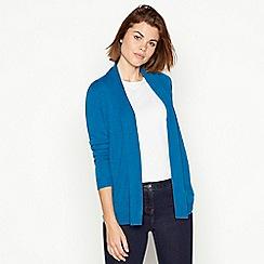 Maine New England - Turquoise textured stripe cardigan