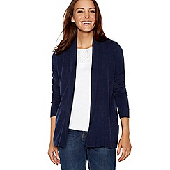 Maine New England - Navy textured stripe cardigan