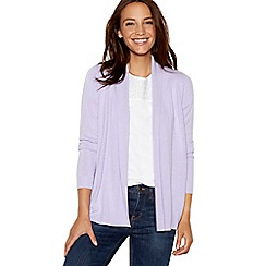 Maine New England - Lilac textured stripe cardigan