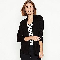 Maine New England - Black textured stripe cardigan