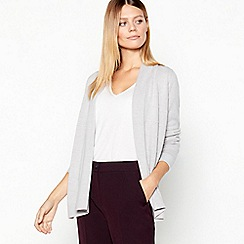 Maine New England - Grey textured stripe cardigan
