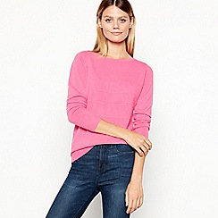 Maine New England - Pink Ribbed Stripe Jumper