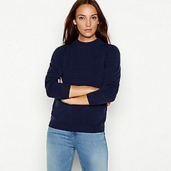 Maine New England - Navy stripe pattern jumper