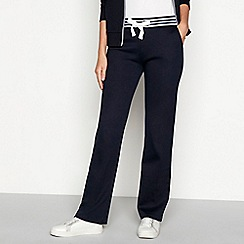 Maine New England - Navy contrast stripe cotton jogging bottoms