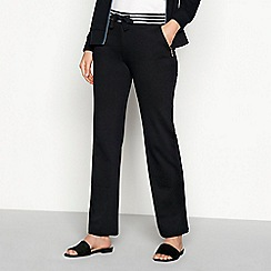 Maine New England - Black contrast stripe cotton jogging bottoms