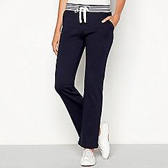 Maine New England - Navy stripe print cotton jogging bottoms