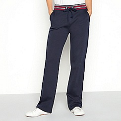 Maine New England - Navy stripe waist cotton joggers