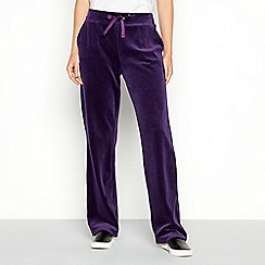 Maine New England - Plum velour joggers